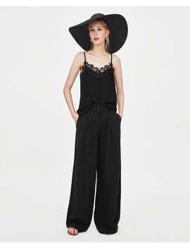 t--shirt-de-estilo-lingerie-com-alÇast-shirts-trf by zara