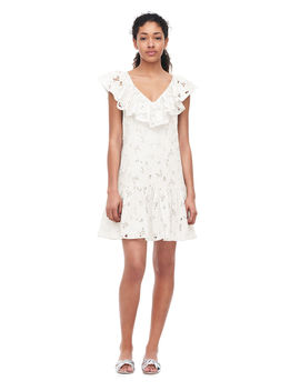 Adriana Embroidered Ruffle Dress by Rebecca Taylor