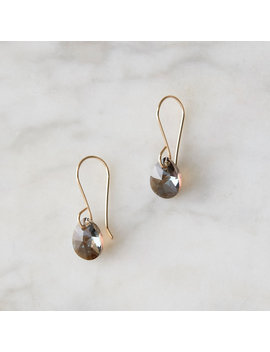 Bronze Crystal Drop Earrings by Terrain