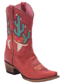 Junk Gypsy By Lane Strawberry Bramble Rose Western Boots   Snip Toe by Lane