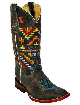Ferrini Aztec Pattern Cowgirl Boots   Square Toe by Ferrini