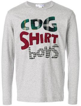 applique-slogan-jersey-top by comme-des-garçons-shirt-boys