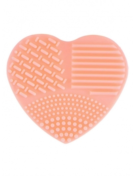 Pastel Pink Heart Shape Silicone Makeup Brush Cleaner Washing Scrubber Cleaning Hand Tool by Dress Link