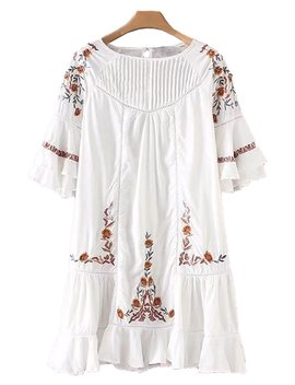 'taylor' Embroidered Flare Dress by Goodnight Macaroon
