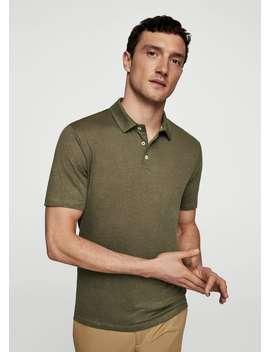 100%-linen-polo-shirt by mango