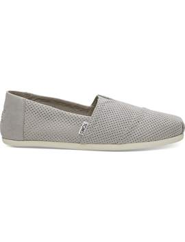Drizzle Grey Perforated Synthetic Suede Men's Classics by Toms