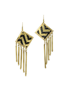 Lolita Black&Amp;Gold Earrings by Mela Artisans