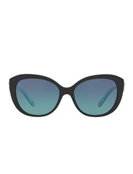 Tf4130 Square Metal Sunglasses   Black by Tiffany &Amp; Co.
