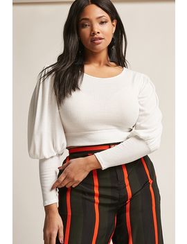 plus-size-balloon-sleeve-top by forever-21