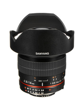 14mm Ultra Wide Angle F/2.8 If Ed Umc Lens For Nikon With Focus Confirm Chip by Samyang