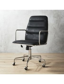 Mad Black Executive Chair by Crate&Barrel