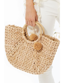 Natural Straw Bag by Charmed By Jlm, Brooklyn