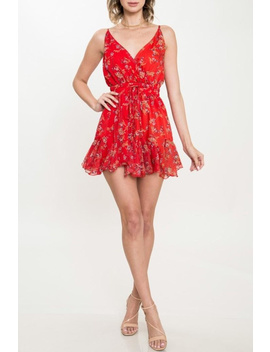 Red Floral Romper by Gypster Veil, Mississippi