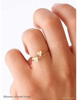 dainty-initial-ring,-personalized-heart-ring,-gold-stacking-custom-initials,-personalized-sterling-silver-initials-ring,-gift-for-her,-mom by etsy