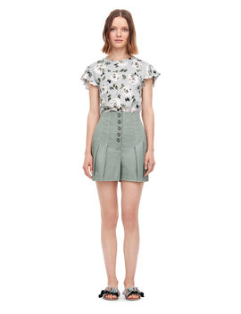 Magnolia Floral Jersey Tee by Rebecca Taylor