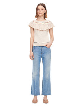 La Vie Short Sleeve Tape Yarn Pullover by Rebecca Taylor