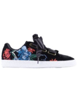 Puma Basket Heart Velvet Hyper Emb by Lady Foot Locker