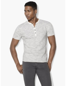 Space Dyed Waffle Henley by John Varvatos