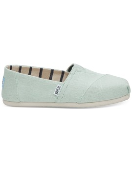 Aqua Glass Heritage Canvas Women's Classics by Toms