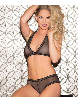 Fishnet Wireless Bra And Panty Set by Shirley Of Hollywood