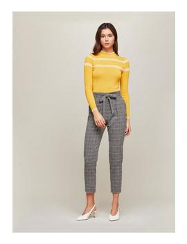 Grey Checked Paper Bag Trousers by Miss Selfridge