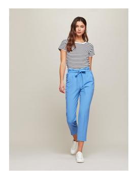 Blue Paper Bag Trousers by Miss Selfridge
