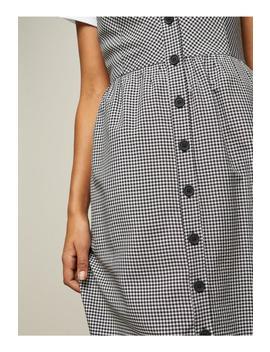 Gingham Button Midi Slip Dress by Miss Selfridge