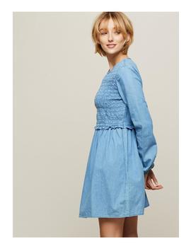 Shirred Denim Dress by Miss Selfridge