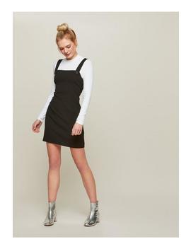 Black Pinafore Dress by Miss Selfridge