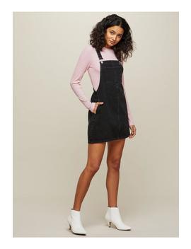 Black Denim Pinafore Dress by Miss Selfridge