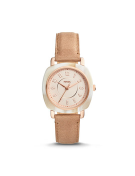 Idealist Three Hand Sand Leather Watch by Fossil
