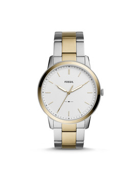 Herrenuhr The Minimalist   Edelstahl   Bicolor by Fossil