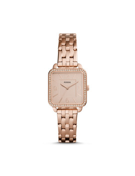 Shiloh Three Hand Rose Gold Tone Stainless Steel Watch by Fossil