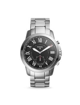 Herren Hybrid Smartwatch Q Grant   Edelstahl by Fossil
