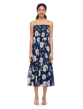 Magnolia Floral Silk Burnout Dress by Rebecca Taylor