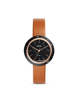 Camille Three Hand Luggage Leather Watch by Fossil