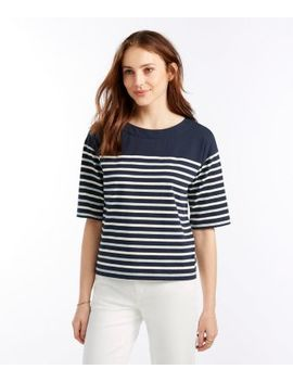 Signature Sailor Stripe Boxy Tee by L.L.Bean