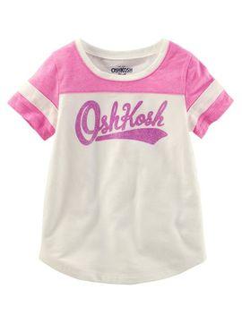 Osh Kosh Logo Varsity Tee by Oshkosh