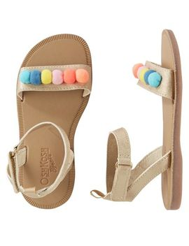 Osh Kosh Multi Pom Sandals by Oshkosh