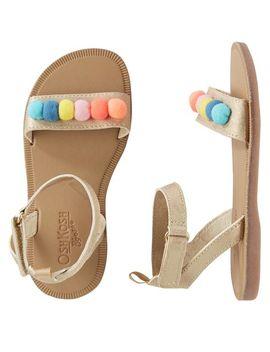 Osh Kosh Multi Pom Sandals by Oshkosh