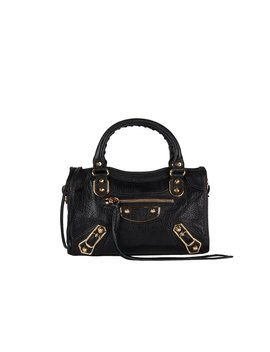 Final Sale: Metallic Edge City Small Bag   Black by Balenciaga