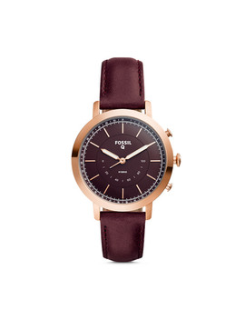 Refurbished Hybrid Smartwatch   Q Neely Cabernet Leather by Fossil