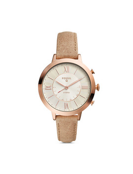 Refurbished Hybrid Smartwatch   Q Jacqueline Bone Leather by Fossil