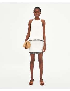 mini-falda-efecto-tweed--faldas by zara
