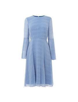 Abbie Blue White Silk Dress by L.K.Bennett