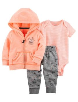 3 Piece Neon Little Jacket Set by Carter's