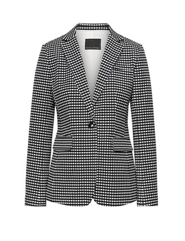 Long And Lean Fit Bi Stretch Gingham Blazer by Banana Repbulic