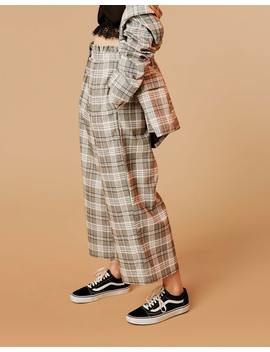 Frill Waist Check Pant by Glassons