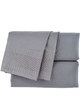 Inspire Me! Home Decor Cotton Full Embroidered Sheet Set by Qvc