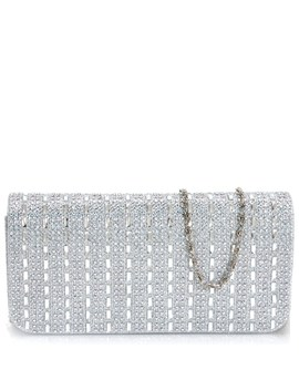 Baguette Crystal Glitter Clutch by Burlington